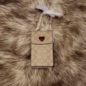 Coach phone and card holder purse